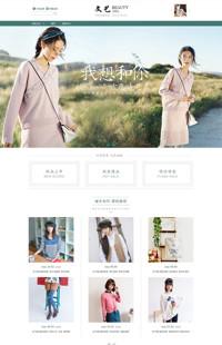 [B1078-3] 静守一份安然-文艺小清新女装行业专用旺铺专业版模板