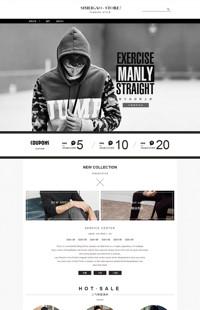 [B1106-3] 尖货潮品 时尚百搭-男装、男士类店铺行业通用旺铺专业版模板