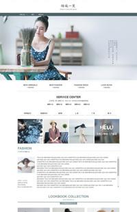 [B1131-3] 浮生若梦-文艺小清新风格女装行业专用旺铺专业版模板