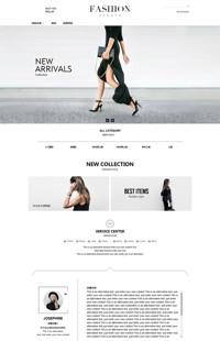 [B1133-1] 清新美丽淑女意-服装行业通用旺铺专业版模板