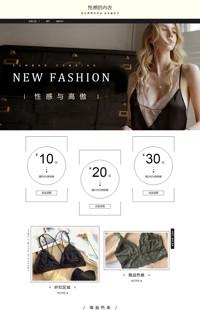 [B1297-1] 女人的性感之源-内衣、女装等行业专用旺铺专业版模板