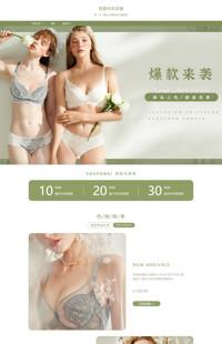 [B1612-1] 款款心动,魅力体现-内衣等行业专用旺铺专业版模板