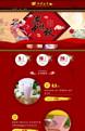红色系:欢庆中秋国庆节日类行业专用旺铺专业版模板
