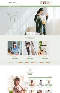 [B878-3] 清新春夏 点亮衣橱-女装鞋包类行业专用旺铺专业版模板