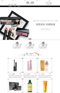 [B893-1] 炫亮色彩-化妆健美、饰品香水等行业通用旺铺专业版模板