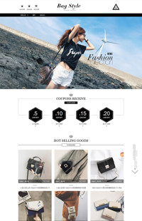 [B917-2] 步步高升,多彩多姿--黑白风格女包女鞋行业专用旺铺专业版模板