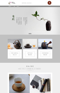 [B990-2] 乐享生活,品味精彩-陶瓷、食器、瓶罐等类家居行业专用旺铺专业版模板
